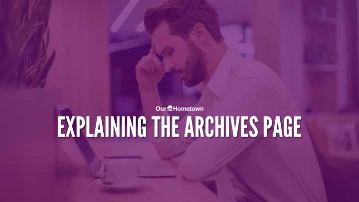 Introduction to the Archives page