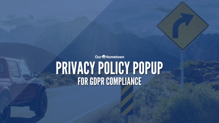 New Privacy Policy Popup for GDPR & CCPA Compliance